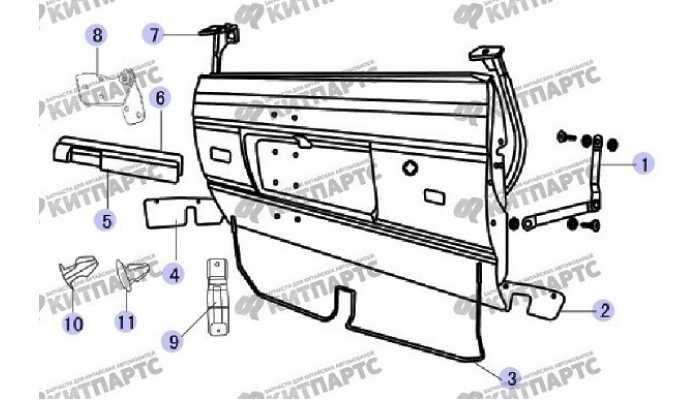 Уплотнитель двери багажника Great Wall Safe (SUV G5)