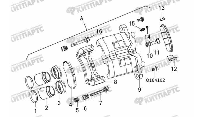 Скоба переднего тормоза (суппорт) Great Wall Hover H3