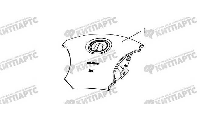 Подушка безопасности водителя Great Wall Hover H3 New